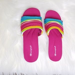 55e4b6431497d Champion Shoes - Champion Multi Color Pink Sandals